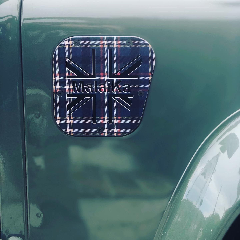 Toma de Aire Motor Tartán Azul Union Jack