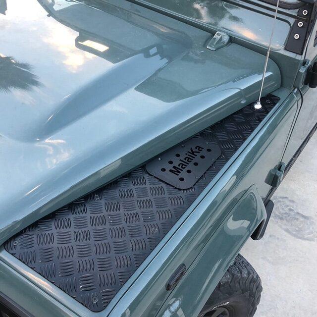Pareja de tomas de Aire Aleta Aluminio Negro